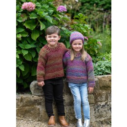 JB550 Children's Sweater & Hat in James C Brett Mega Multi Chunky