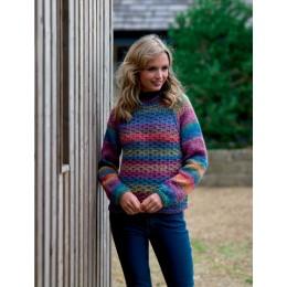 JB553 Ladies Sweater in James C Brett Marble Chunky