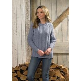 JB575 Sweater for Women in James C Brett Rustic Aran