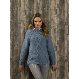 JB578 Ladies Sweater in James C Brett Amazon Super Chunky