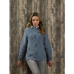 JB578 Ladies Sweater in James C Brett Amazon Super Chunky