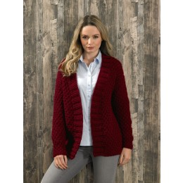 JB579 Ladies Jacket in James C Brett Amazon Super Chunky