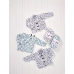 JB580 Baby Sweater & Cardigans in James C Brett Flutterby