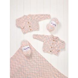 JB581 Cardigans & Blanket for Baby in James C Brett Flutterby