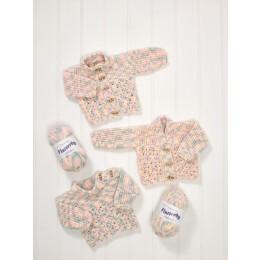 JB582 Baby's Sweater & Cardigans in James C Brett Flutterby