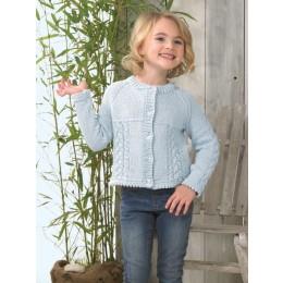 JB598 Girl's Cardigan in James C Brett It's Pure Cotton DK