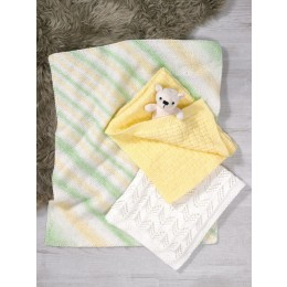 JB612 Baby Blankets in James C Brett Baby Marble & Supersoft Baby DK