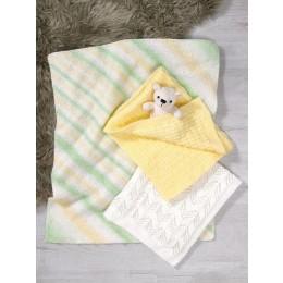 JB612 Baby Blankets in James C Brett Baby Marble & Supersoft Baby DK