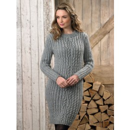 JB625 Ladies Sweater & Dress in James C Brett Rustic & Aztec Aran