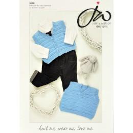 JW5018 Baby Waistcoat Babysoft DK with Cashmere