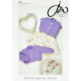 JW5019 Baby Cardigan Babysoft DK with Cashmere