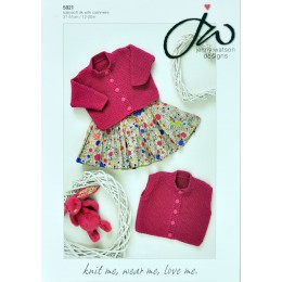 JW5021 Baby Cardigan and Waistcoat Babysoft DK with Cashmere