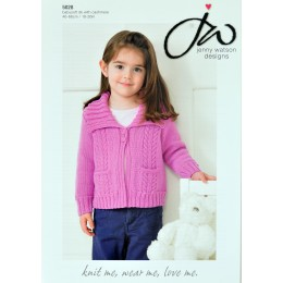 JW5028 Children's Cable Cardigan Babysoft DK with Cashmere