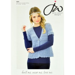 JW5041 Ladies Short Sleeved Cardigan Pure Merino DK