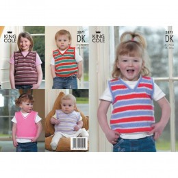 KC2871 Babies and Children Waistcoat in DK