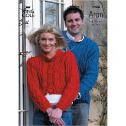 KC2944 Women and Men Jacket and Jumper in Aran