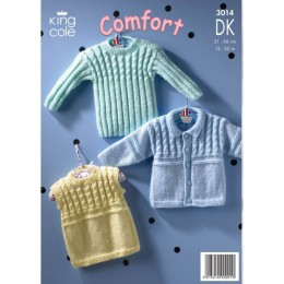 KC3014 Babies Cardigan and Top in DK
