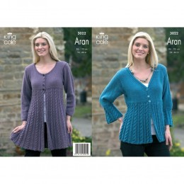 KC3022 Women's Cardigan in Aran