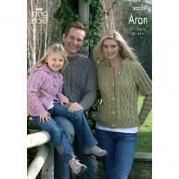 KC3023 Family Cardigan and Jumper in Aran
