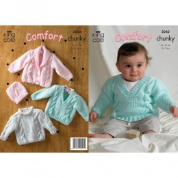 KC3043 Babies Jumper, Jacket and Hat in Chunky