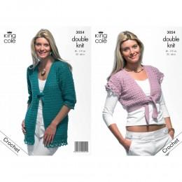 KC3054 Women Crochet Bolero in DK