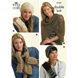 KC3157 Women's Hats Gloves and Scarves in DK