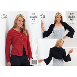 KC3177 Women's Cardigan and Bolero in DK