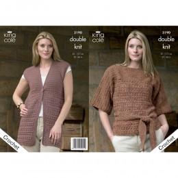 KC3190 Women's Crochet Top and Waistcoat in DK