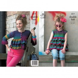 KC3217 Children's Cardigan and Top in Riot DK