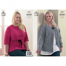 KC3247 Women's Cardigan and Top in Aran