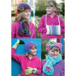 KC3298 Children's Hats, Scarves, Gloves and Handwarmer in DK and Chunky