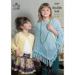 KC3347 Children's Poncho and Cardigan in DK