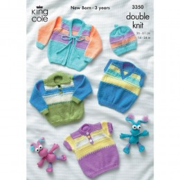 KC3350 Babies Cardigan, Jumper and Hat in DK