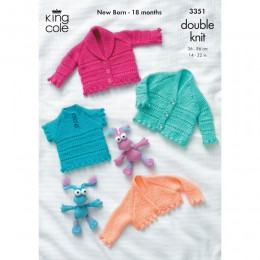 KC3351 Babies Cardigan, Top and Bolero in DK