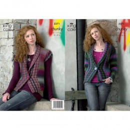 KC3371 Women's Cardigan and Waistcoat in Riot Chunky