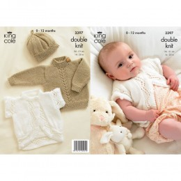 KC3397 Babies Cardigan, Jumper and Hat in DK