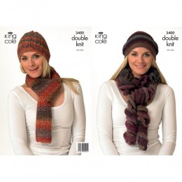 KC3400 Women's Scarf and Hat in Riot DK