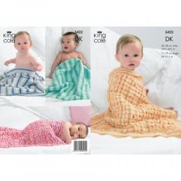 KC3422 Babies' Blankets in King Cole Splash DK