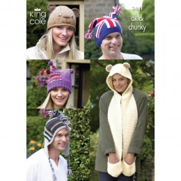 KC3441 Novelty Hats for Adults in DK and Chunky