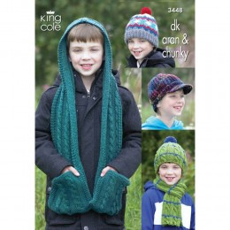 KC3448 Boy's Accessories in DK, Aran and Chunky