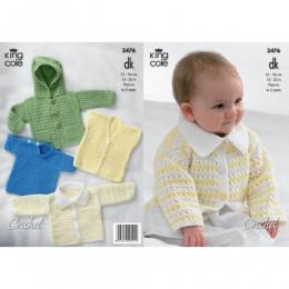 KC3476 Crocheted Babies Wardrobe in King Cole Comfort DK