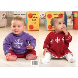 KC3498 Christmas Sweater and Dress for Babies in DK
