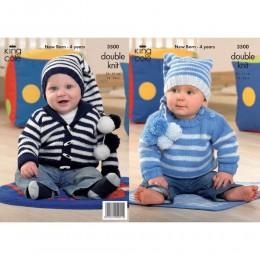 KC3500 Jumper, Jacket, Hat and Blanket for Babies in King Cole Comfort DK