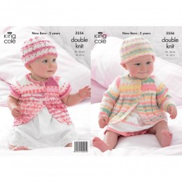 KC3556 Coats and Hats for Babies in King Cole Comfort Prints DK