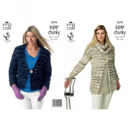 KC3578 Jacket and Snood for Women in Gysy Super Chunky