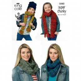 KC3582 Scarfs for Women and Children in King Cole Gypsy