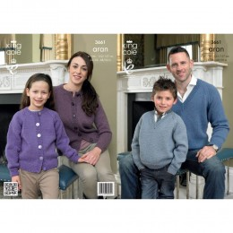 KC3661 Cardigan and Sweater for Boys and Men in King Cole Merino Blend DK