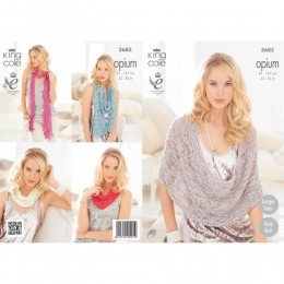 KC3685 Scarves, Snood, Poncho and Wrap for Women in King Cole Opium