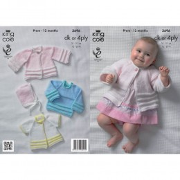 KC3696 Jackets, Sweater and Hat for Babies in King Cole Comfort 4Ply and King Cole Comfort DK