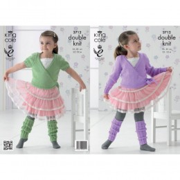 KC3712 ballet Cardigan and Legwarmers for Children in King Cole Comfort DK